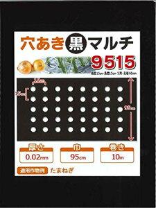 【マルチ】 穴あき黒マルチ9515 にんじん・菜っ葉用10m(郵便配送商品)