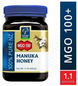 マヌカヘルス マヌカハニー MGO 100+500g【はちみつ ハチミツ 蜂蜜 自然食品 天然 ピュア 無添加】並行輸入 送料無料!