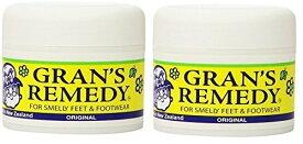 靴用消臭剤 Gran's Remedy/グランズレメディ オリジナル 50g 2個セット(無臭)魔法の粉 Made in ニュージーランド レターパック 送料無料!