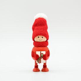 【土日も発送】【あす楽】NORDIKA nisse プレゼントを抱えたふとっちょ男の子 ノルディカ ニッセ 北欧雑貨 サンタ 木製 人形 クリスマス ハンドメイド 北欧 インテリア クリスマス プレゼント 飾り