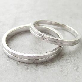 Paripassu 結婚指輪 マリッジリング ペアリング 刻印無料 偶数号 シルバー つや消し クロス レディース メンズ 結婚記念日プレゼント 指輪 プロポーズ