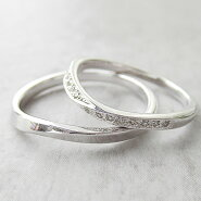 Paripassu結婚指輪マリッジリングペアリング刻印無料偶数号シルバーダイヤモンドウェーブクラシカルレディースメンズ結婚記念日プレゼント指輪プロポーズ