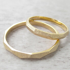 Paripassu 結婚指輪 マリッジリング ペアリング 刻印無料 偶数号 シルバー つや消し ゴールド カットリング 表面加工 細身 華奢 レディース メンズ 結婚記念日プレゼント 指輪 プロポーズ
