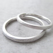 Paripassu結婚指輪マリッジリングペアリング刻印無料偶数号シルバーつや消し表面加工糸細身華奢レディースメンズ結婚記念日プレゼント指輪プロポーズ