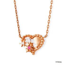 THE KISS ディズニー コレクション ネックレス シルバー アナと雪の女王 アナ レディース ハート ピンクゴールド ピンクサファイア 40cm ザ・キッス 誕生日 記念日 祝い プレゼント