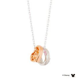 THE KISS ディズニー コレクション ペアネックレス シルバー ネックレス ミッキー レディース ペア ダイヤモンド ザ・キッス カップル お揃い 誕生日 記念日 祝い プレゼント メンズ