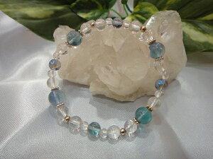 健康運お守りパワーストーンブレスレット健康祈願フローライト数珠守護石プレゼント