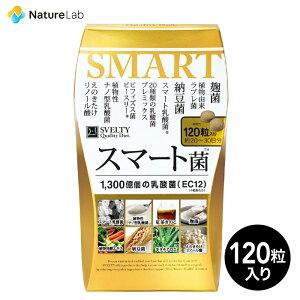 スベルティ スマート菌 120粒 | サプリメント ヘルスケア 乳酸菌 菌活 キダチアロエ 桑の葉 紅茶 えのきたけ パックン 美容 サプリ 栄養 補助 健康 食品