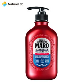 マーロ 全身用 クレンジングソープ ボディソープ 450ml | ヘアケア 男性 植物エキス 全身 洗える シャンプー ニオイ対策 全身スッキリ 頭皮ケア メンズ ボディソープ 植物由来