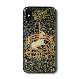 iPhone XRケース iPhone12Promax 背面ガラスケース 捕われの身のユニコーン 多機種対応 ケース 人気 絵画 個性的 スマホカバー ハードケース