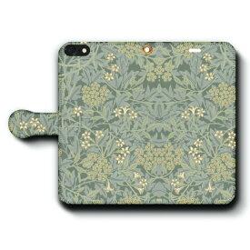 スマホケース 全機種対応 手帳型 ウィリアムモリス ケース カバー iPhone12 iPhone12Pro Xperia エクスペリア ギャラクシー アクオス ファーウェイ 名画 絵画 おしゃれ