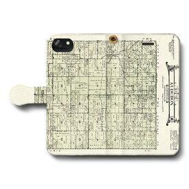 スマホケース 全機種対応 手帳型 オーデュボンの農場地図 iPhone7 ケース iPhone8 絵画 レトロ 人気 Xperia Ace Galaxy A20 SC-02M iPhone12Promax