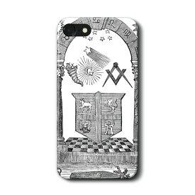 スマホケース フリーメイソン ケース カバー iPhone11Pro Max Xperia エクスペリア ギャラクシー アクオス ファーウェイ 名画 絵画 おしゃれ iPhoneXR