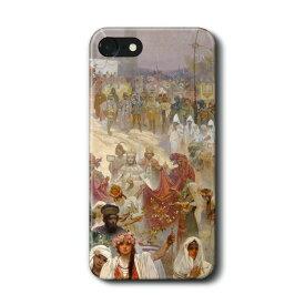 スマホケース アルフォンス ミュシャ 東ローマ皇帝として戴冠するセルビア皇帝 iPhone12 ケース iPhoneXS 絵画 ケース 人気 丈夫 耐衝撃 Xperia10 Google Pixel4 Pixel5 iPhon11 iPhon11Pro iPhoneXR
