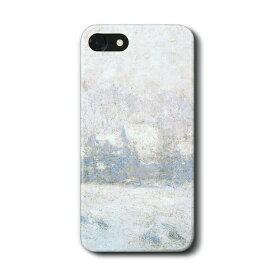 スマホケース クロード モネ ジ?ェルニー 雪の効果 iPhone7 ケース iPhone8 絵画 レトロ 人気 Xperia10 GalaxyS20 A30 S10 iPhone12 iPhon11 iPhon11Pro ハードカバー 名画 名作絵画