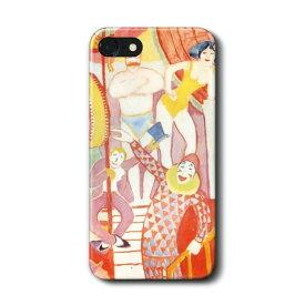 スマホケース アウグスト マッケ サーカス iPhone7 ケース iPhone8 絵画 レトロ 人気 Xperia10 GalaxyS20 A30 S10 iPhone12 iPhon11 iPhon11Pro ハードカバー 名画 名作絵画