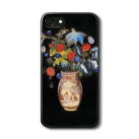 スマホケース オディロン ルドン 黒い背景に大きな花束 ケース カバー iPhone11Pro Max Xperia エクスペリア ギャラクシー アクオス ファーウェイ 名画 絵画 おしゃれ iPhoneXR