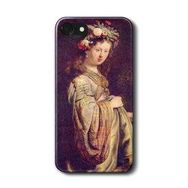 スマホケース 多機種対応 ハードケース レンブラント 春の女神フローラに扮したサスキア iPhone6s ケース iPhone6 あいふぉん 絵画 人気 Aquos 最新機種 携帯ケース iPhon11 iPhon11Pro Galaxys10 おしゃれ かわいい