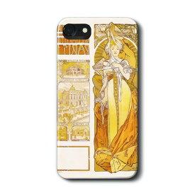 スマホケース アルフォンス ミュシャ パリ 1900年 ケース カバー iPhone11Pro Max Xperia エクスペリア ギャラクシー アクオス ファーウェイ 名画 絵画 おしゃれ iPhoneXR