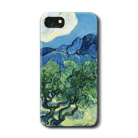 スマホケース ファン ゴッホ オリーブの木 iPhone7 ケース iPhone8 絵画 レトロ 人気 Xperia10 GalaxyS20 A30 S10 iPhone12 iPhon11 iPhon11Pro ハードカバー 名画 名作絵画
