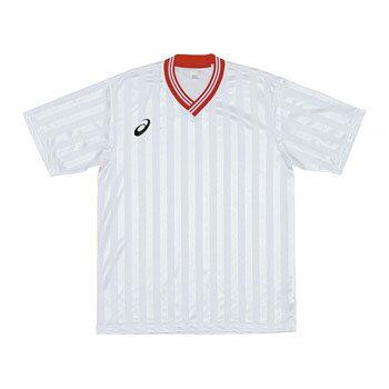 アシックス(asics) XS3138 JR.ゲームシャツHS 120 0123(ホワイト×レッド) XS3138