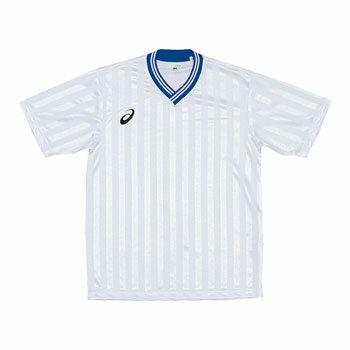 アシックス(asics) XS3138 JR.ゲームシャツHS 160 0145(ホワイト×ブルー) XS3138