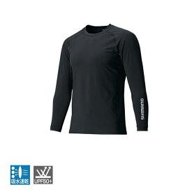 シマノ(SHIMANO) IN-061Q サンプロテクション ロングスリーブシャツ XL ブラック 48361