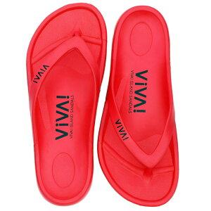 ビバアイランド(VIVA! ISLAND) VIVA ISLAND FLIP FLOP 36 Red V-810105