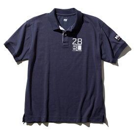 HELLY HANSEN(ヘリーハンセン) S/S Flag Polo(ショートスリーブ フラッグ ポロ)Men's M HB(ヘリーブルー) HH32001