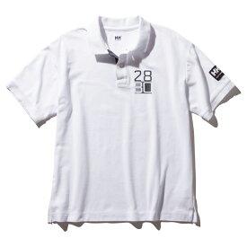 HELLY HANSEN(ヘリーハンセン) S/S Flag Polo(ショートスリーブ フラッグ ポロ)Men's M W(ホワイト) HH32001
