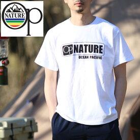オーシャンパシフィック(Ocean Pacific) 【OP×ナチュラム】5.6オンス プリント Tシャツ ロゴ XL ホワイト 599006-R