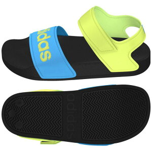 adidas(アディダス) ADILETTE SANDAL K 23.0cm コアブラック×ソーラーイエロー×ソラーブルー ADJ-FY8850-230