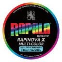 Rapala(ラパラ) ラピノヴァ・エックス マルチカラー 200m 0.8号/17lb マルチ RXC200M08MC