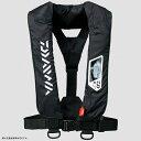 ダイワ(Daiwa) DF-2007 ウォッシャブルライフジャケット(肩掛けタイプ手動・自動膨脹式) フリー ブラック 04595373