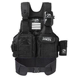 プロックス(PROX) フローティングゲームベスト(サポーター付) 大人用 フリー ブラック×ブラック PX399SPKK