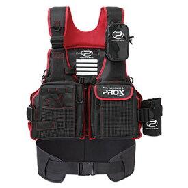 プロックス(PROX) フローティングゲームベスト(サポーター付) 大人用 フリー ブラック×レッド PX399SPKR