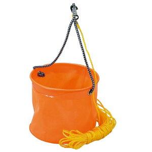 プロマリン(PRO MARINE) EVA反転バケツ 丸(ロープ付) 18cm オレンジ AEC020-18