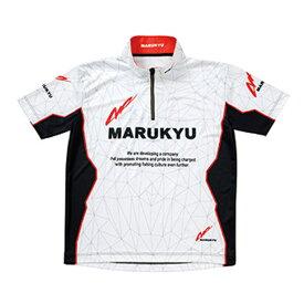 マルキュー(MARUKYU) マルキユージップアップシャツ02(半袖) M ホワイト 16486