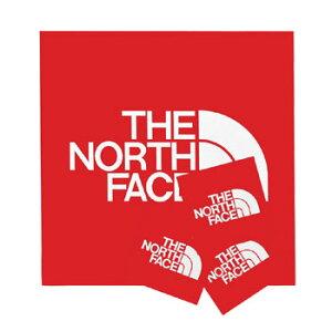 THE NORTH FACE(ザ・ノースフェイス) TNFステッカー 95×95mm レッド(R) NN-9719