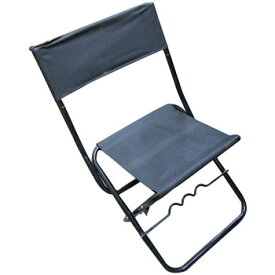 ベイシックジャパン 竿掛け付きパイプ椅子 中 ブラック BF-20048