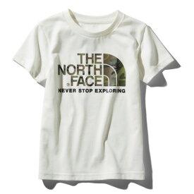 THE NORTH FACE(ザ・ノースフェイス) S/S CAMO LOGO TEE(ショートスリーブ カモ ロゴ Tシャツ) Kid's 120 W(ホワイト) NTJ31992