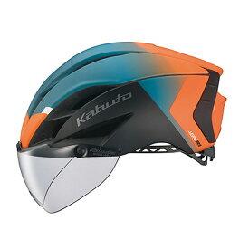 オージーケー カブト(OGK KABUTO) ヘルメット AERO-R1-TR トライアスロン XS/S G-2マットオレンジグリーン 20601121