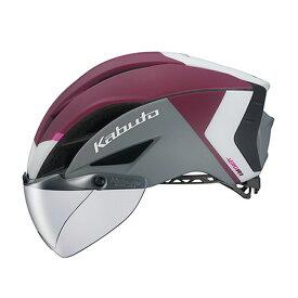 オージーケー カブト(OGK KABUTO) ヘルメット AERO-R1 (エアロ-R1) L/XL G-2マットダークレッド 20601158