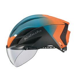 オージーケー カブト(OGK KABUTO) ヘルメット AERO-R1 (エアロ-R1) XS/S G-2マットオレンジグリーン 20601162