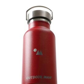 アウトドアマン(OUTDOOR MAN) ステンレスボトル350 350ml レッド KODS-035R