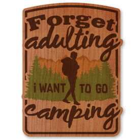 WOODSTICKER(ウッドステッカー) WOOD STICKER OUTDOOR ウッドステッカー アウトドア Forget adulting IB-DS-WDS-4941