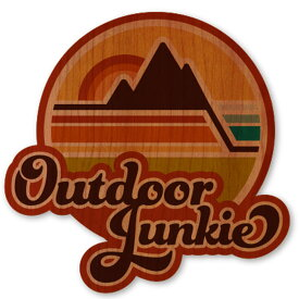 WOODSTICKER(ウッドステッカー) WOOD STICKER OUTDOOR ウッドステッカー アウトドア Outdoor Junkie IB-DS-WDS-4945