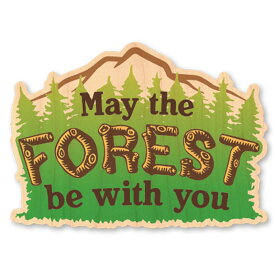 WOODSTICKER(ウッドステッカー) WOOD STICKER OUTDOOR ウッドステッカー アウトドア FOREST IB-DS-WDS-4946
