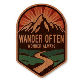 WOODSTICKER(ウッドステッカー) WOOD STICKER OUTDOOR ウッドステッカー アウトドア WANDER OFTEN IB-DS-WDS-4947