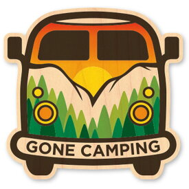 WOODSTICKER(ウッドステッカー) WOOD STICKER OUTDOOR ウッドステッカー アウトドア GONE CAMPING IB-DS-WDS-4948